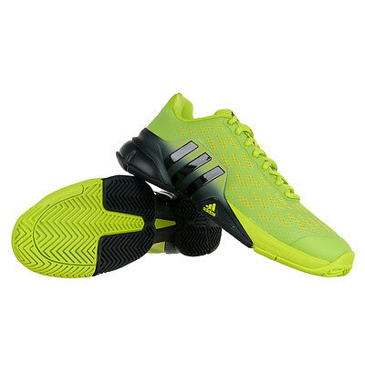 Adidas Barricade 2016 Mens Green/Black Tennis Court Sports Shoes Trainers
