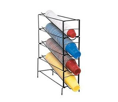Dispense-Rite 4 Section Vertical Wire Rack Cup Dispenser One Size Fits All