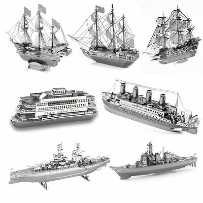 Ship Series 3D Metal Model Puzzle No Glue Jigsaw Laser Cut Assembly Decorate