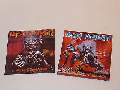 BOOKLET pochette livret CD IRON MAIDEN a real LIVE dead one HARD ROCK metal 1983