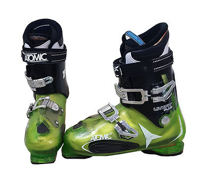 Atomic Live Fit Plus Ski Boots Mondo 26 Men's 8 Green/Black/White - USED