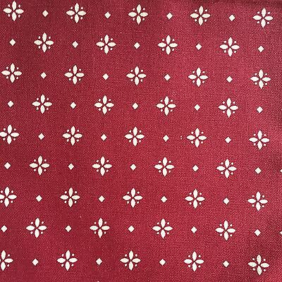 Longaberger TWO 2 NAPKINS Traditional Red Fabric -petal motif - New No Bag