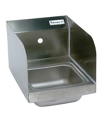 """BK Resources Stainless Hand Sink 12""""x16"""" w/ Faucet, Drain & Side Splashes"""
