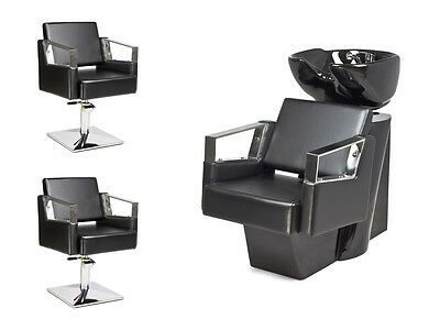 SALON HAIRDRESSING STYLING FURNITURE SETS Backwash  Styling Chairs VERDE !