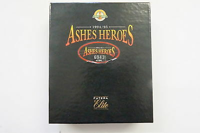 1994/95 Cricket Ashes Heroes set of 60 cards plus McDermott card box opened