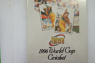 1996 Cricket World Cup set of 100 cards, 27 chase cards, promo & official album