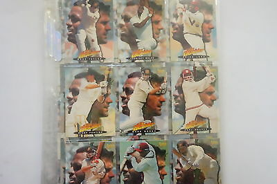 1996/97 Cricket Decider set of 90 cards, 23 chase cards, promo