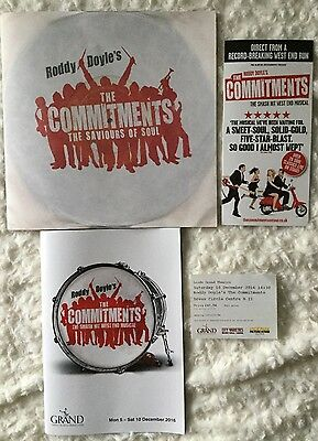 THE COMMITMENTS Autographed Programme + Brochure,Flyer & Ticket.