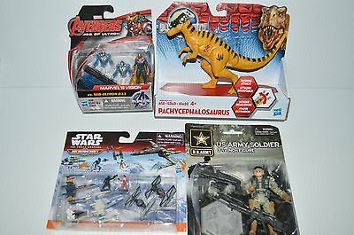 Lot of 4 Toys Star Wars Micro Mahines US Army Figure Jurassic World Avengers NEW