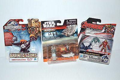Lot of 3 toys Star Wars Jurassic World Avengers Age of Ultron action figures NEW