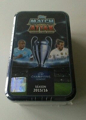 MATCH ATTAX Collectors Cards and Tin. Champions League Season 15/16. SEALED.