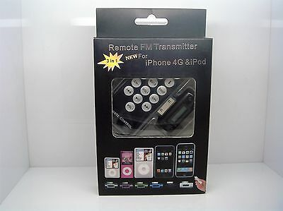 Remote FM Transmitter for iPhone 4/iPod