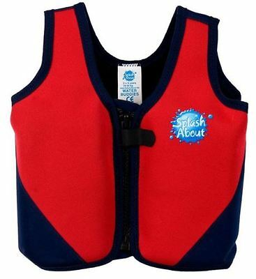 Splash About Neoprene Float Jacket with Adjustable Buoyancy - Red/Navy 10-14 yrs