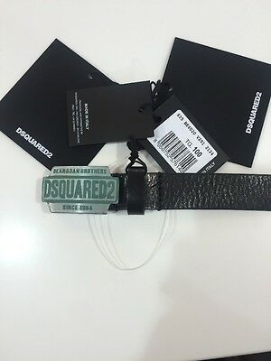 "Men's DSQUARED Belt With Branded Buckle Size 95cm (36"")"