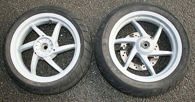 Piaggio Nrg 50 Power Dt A/c 2009 09 Front Rear Wheel Wheels Tyre 120/70-13 Disc