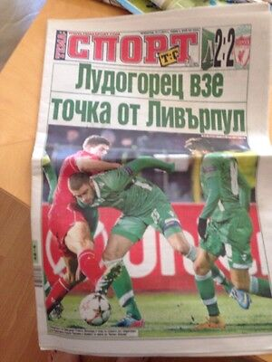 Ludogorets v Liverpool day after match paper 27.11.2014