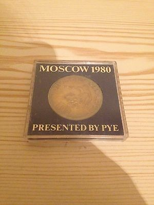 1980 Moscow Olympics Coin Presented by PYE Cased