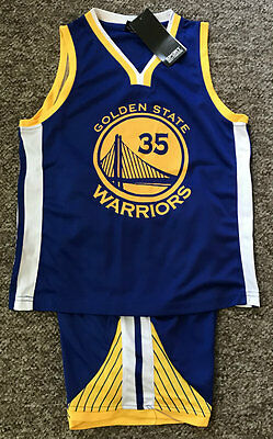 Kids Basketball Jersey #35 Kevin Durant Golden State Warriors 1 Set,top&shorts