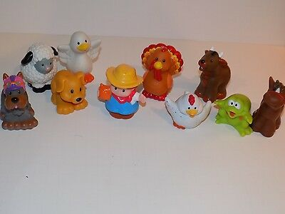Fisher-Price Little People Farm Animal Friends with farmer plus dogs