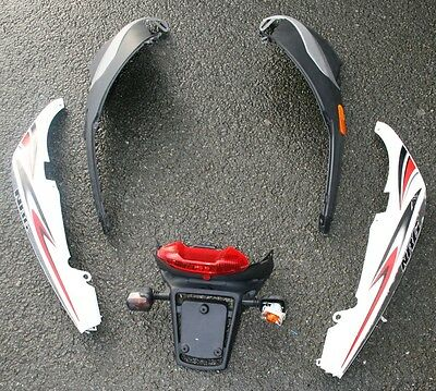 Piaggio Nrg 50 Power Dt A/c 2009 Left Right Rear Side Panels Number Plate Holder