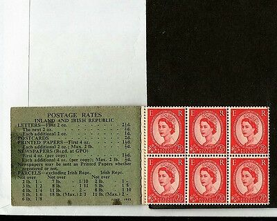 GB scarcer COMPOSITE 2/6d STAMP BOOKLET JUNE 1953 Good stamps Poor Stitch cover.