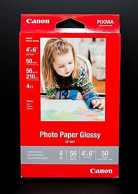 Canon Photo Paper 4x6 - Glossy GP-601 - 50 Sheets - Great Value!