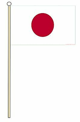 "JAPAN ASIA medium HAND WAVING FLAG 9""X6"" 22.5cm x 15cm JAPANESE"