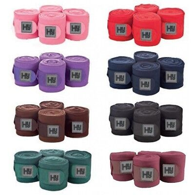 * Hy Pack of 4 Fleece Bandages - Various Colours *