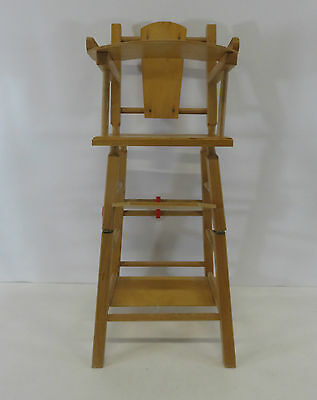 """Children's Wooden Toy Dolls High Chair With Liftable Desk 25"""" High"""