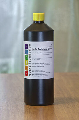 Colloidal silver, 20+ppm, 1 litre, why pay more? + free skin gel sample