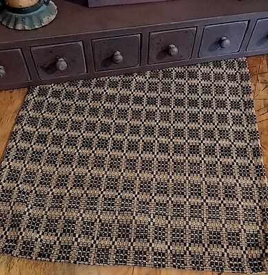 Primitive Colonial Preachers Knot Long Woven Table Runner