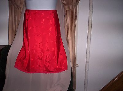 New Deena  RED  Half Slip Size Medium Wide Botom 27 Inches Long Valentine's Day