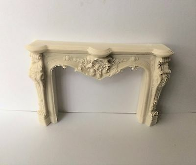 Dolls House Carved White Fireplace 1:12 Scale