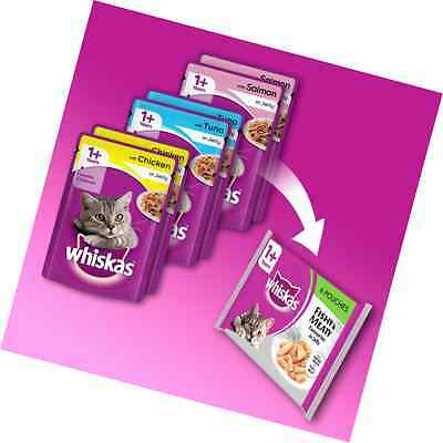 Whiskas Wet Cat Food Treat Mixed Selection Different Adult Baby 84 x 100 g