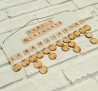 mdf birthday and dates to remember plaques with 20 hanging discs craft blanks