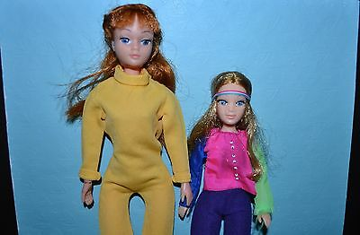 Vintage 70's Dolls - 1970 Dollikin by Uneeda and 1971 Hasbro World of Love Doll