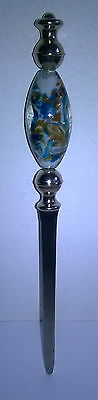 Beautiful Rare Vintage Handmade Lesser & Pavey Glass Letter Opener