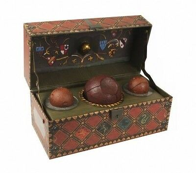 Brand New Harry Potter Collectible Quidditch Set Collectors Item Showcase Trunk