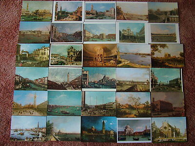 30 CANALETTO, ART Postcards. Mainly unused.