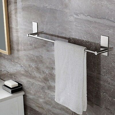 KES A7000B Bathroom Lavatory 3M Self Adhesive Single Towel Bar 21.7-Inch Brus...