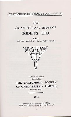 1978 Ogden's Cigarette Card And Guinea Gold Reference Book