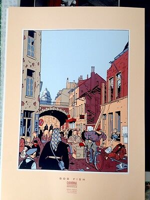 Serigraphie Chaland Collection Bord Perdus Champaka 50x70 Vintage Nickel