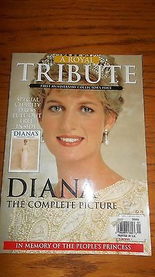 Princess Diana The Complete Picture Tribute Magazine & Pullout With Her Dresses