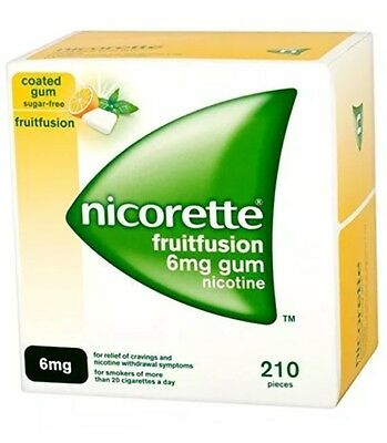 Nicorette Fruitfustion Gum 6 Mg - Pack Of 105 &  210 Pieces