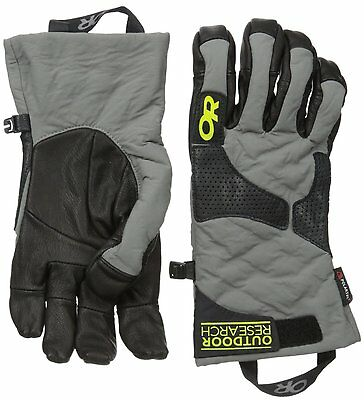 Outdoor Research Lodestar Gloves, Pewter/Black/Lemongrass, Large