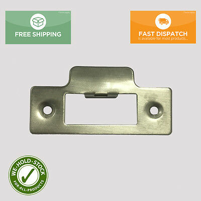 Strike Plate Nickel Plated Use With Tubular Mortice Door Lock / Latch