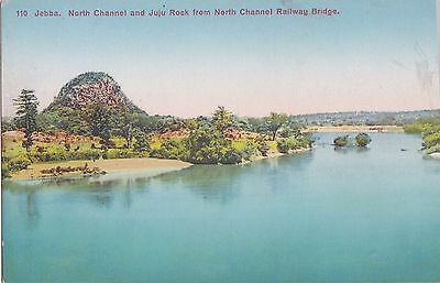 Old Postcard North Channel Juju Rock Railway Bride Lagos Nigeria Ethnic Nv379