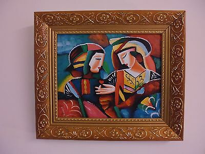cubist/Abstract  contemporary oils on canvas signed Ganci