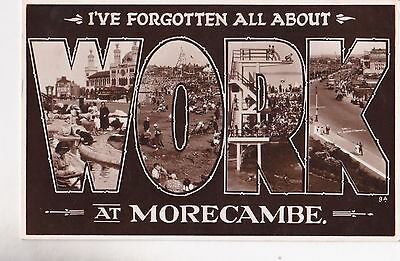 Old Postcard Morecambe Lancashire Seaside Town Swimming Pool Work 1930S A2