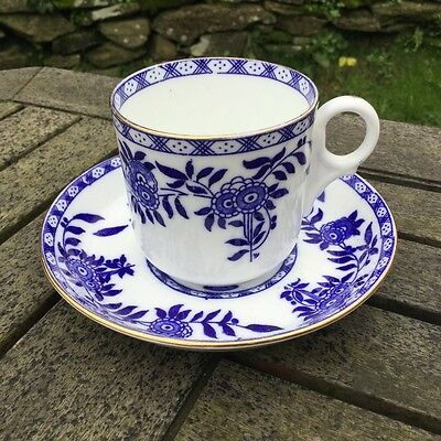 Antique Salt & Nixon Salon China Cup & Saucer, Blue Floral Pattern 'Brugge'